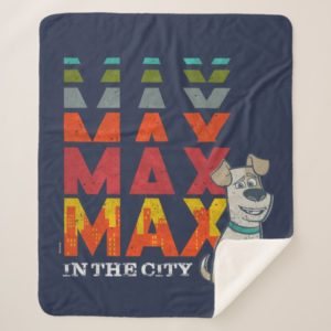 Secret Life of Pets - Max in the City Sherpa Blanket