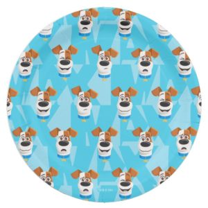 Secret Life of Pets - Max Pattern Paper Plate