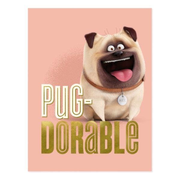 Secret Life of Pets - Mel   Pug-Dorable Postcard