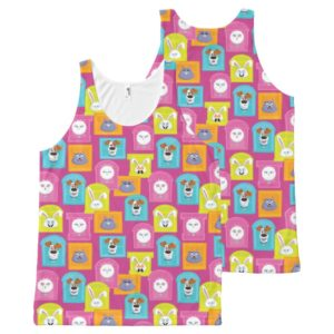 Secret Life of Pets Pattern All-Over-Print Tank Top