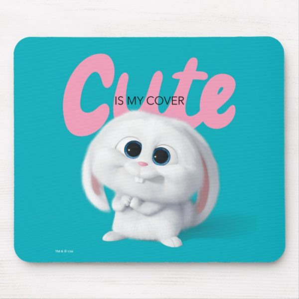 Secret Life of Pets - Snowball   Cute is My Cover Mouse Pad