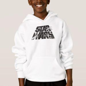 Star Wars Logo   X-Wing & TIE Fighter Battle Hoodie