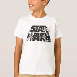Star Wars Logo | X-Wing & TIE Fighter Battle T-Shirt