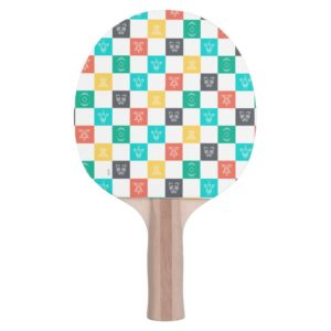 Star Wars Resistance | Aces Icon Checker Pattern Ping Pong Paddle
