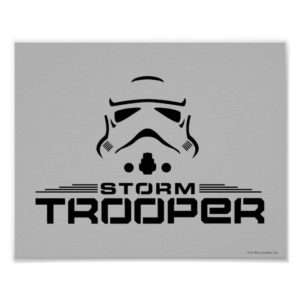 Stormtrooper Simplified Graphic Poster
