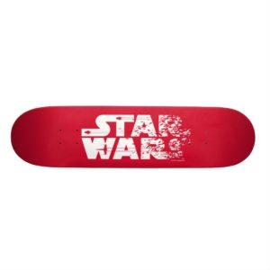 White Star Wars Logo Skateboard