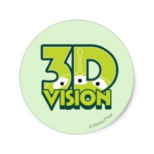 3D Vision Classic Round Sticker