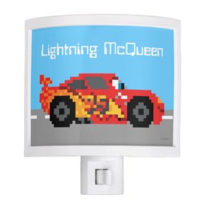 8-Bit Lightning McQueen Night Light