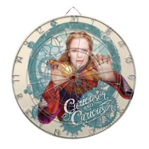 Alice   Curiouser and Curiouser Dartboard With Darts