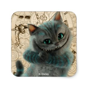 Alice Thru the Looking Glass | Cheshire Cat Grin Square Sticker