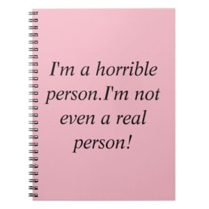 Allison quote from Orphan Black horrible person Notebook