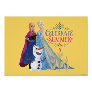 Anna and Elsa | Celebrate Summer Poster