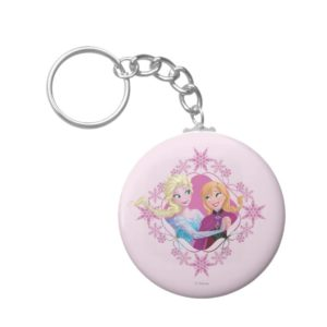 Anna and Elsa | Family Forever Keychain