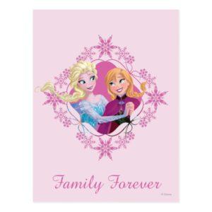 Anna and Elsa   Family Forever Postcard