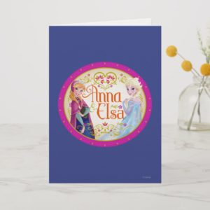 Anna and Elsa | Floral Frame Card