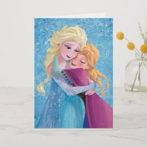 Anna and Elsa | Hugging Card