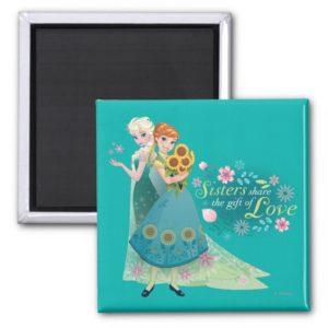 Anna and Elsa   Sister Love Magnet