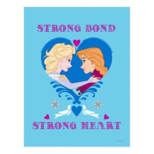Anna and Elsa | Strong Bond, Strong Heart Postcard