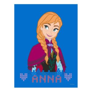 Anna   Portrait with Name Postcard