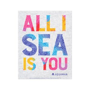"Aquaman | ""All I Sea Is You"" Colorful Paisley Canvas Print"