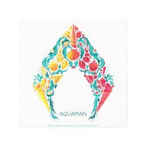 Aquaman | Aquaman & Mera Themed Seashell Logo Canvas Print