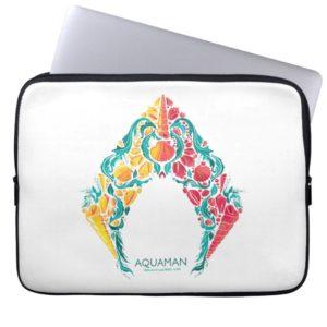 Aquaman | Aquaman & Mera Themed Seashell Logo Computer Sleeve