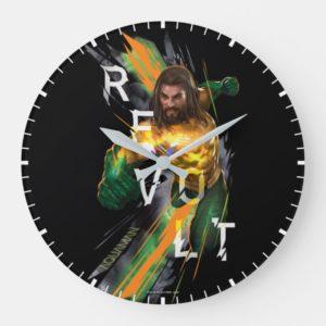 """Aquaman   Aquaman """"Revolt"""" Refracted Graphic Large Clock"""