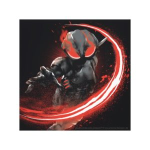 Aquaman | Black Manta Red Swipe Graphic Canvas Print