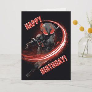 Aquaman | Black Manta Red Swipe Graphic Card