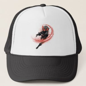 Aquaman | Black Manta Red Swipe Graphic Trucker Hat