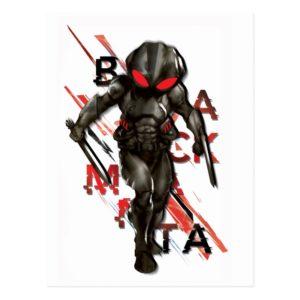 Aquaman | Black Manta Scattered Typography Graphic Postcard