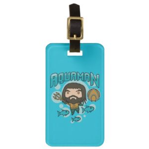 Aquaman | Chibi Aquaman Undersea Graphic Bag Tag
