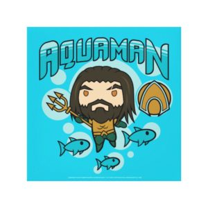 Aquaman | Chibi Aquaman Undersea Graphic Canvas Print