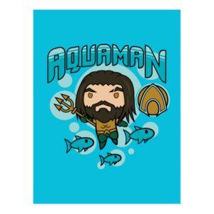 Aquaman   Chibi Aquaman Undersea Graphic Postcard