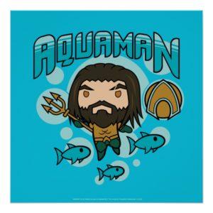 Aquaman | Chibi Aquaman Undersea Graphic Poster