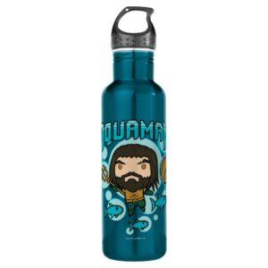 Aquaman | Chibi Aquaman Undersea Graphic Stainless Steel Water Bottle