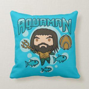 Aquaman | Chibi Aquaman Undersea Graphic Throw Pillow