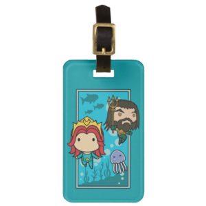 Aquaman | Chibi Mera & Aquaman Undersea Graphic Bag Tag