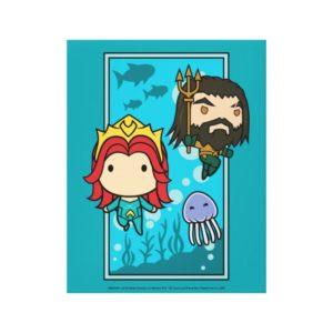 Aquaman | Chibi Mera & Aquaman Undersea Graphic Canvas Print
