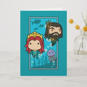 Aquaman | Chibi Mera & Aquaman Undersea Graphic Card