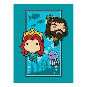 Aquaman | Chibi Mera & Aquaman Undersea Graphic Postcard