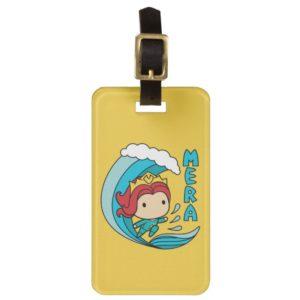 Aquaman | Chibi Mera Riding Wave Graphic Bag Tag