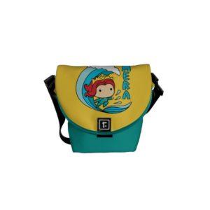 Aquaman | Chibi Mera Riding Wave Graphic Courier Bag