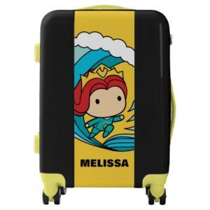 Aquaman   Chibi Mera Riding Wave Graphic Luggage