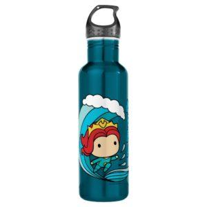 Aquaman   Chibi Mera Riding Wave Graphic Stainless Steel Water Bottle
