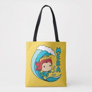 Aquaman | Chibi Mera Riding Wave Graphic Tote Bag
