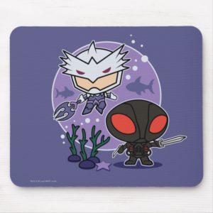 Aquaman   Chibi Orm & Black Manta Undersea Graphic Mouse Pad