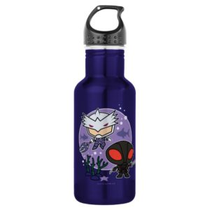 Aquaman | Chibi Orm & Black Manta Undersea Graphic Stainless Steel Water Bottle