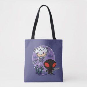 Aquaman | Chibi Orm & Black Manta Undersea Graphic Tote Bag