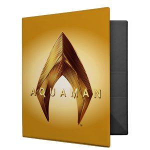 Aquaman | Golden Aquaman Logo 3 Ring Binder